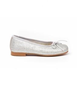 Manoletina/Bailarina Mini Glitter plata