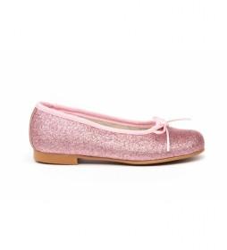 Manoletina/Bailarina Mini Glitter rosa