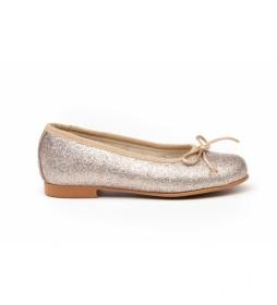 Manoletina/Bailarina Mini Glitter dorado