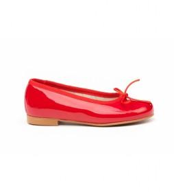 Manoletinas/Bailarina charol rojo