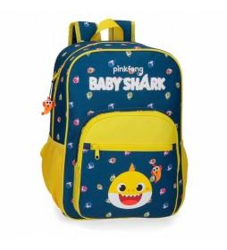 Mochila Escolar Baby Shark My Good Friend Adaptable -28,5x38x12cm-