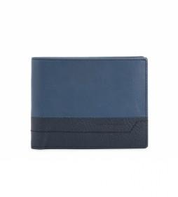 Cartera PU1241S94R azul -12,5x9,5x1cm-