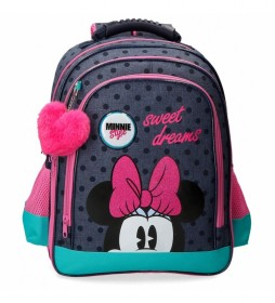 Mochila Escolar Sweet Dreams Minnie Doble Compartimento -29x38x16cm-