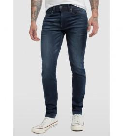Jeans Knit Denim azul