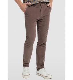 Pantalón Chino Courduroy marrón