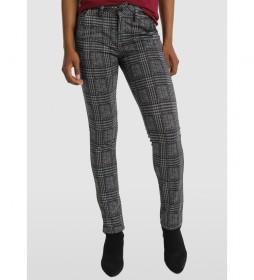 Pantalón 5 Bolsillos Cuadros Ava Alons gris
