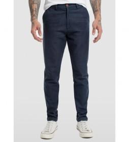 Pantalón Chino Espiga Perchada azul