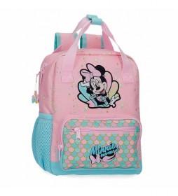 Mochila Minnie Mermaid Preescolar rosa -23x28x10cm-