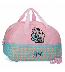 Bolsa de viaje Minnie Mermaid rosa -40x24x18cm-