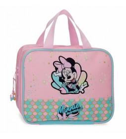 Neceser Minnie Mermaid adaptable a trolley rosa -25x20x11cm-