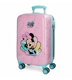 Maleta de cabina Minnie Mermaid 32L rígida rosa -34x55x20cm-