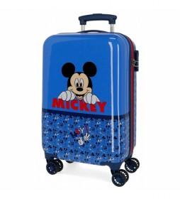 Maleta de cabina Mickey Moods rígida azul -34x55x20cm-