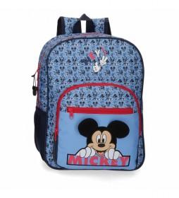 Mochila Mickey Moods azul -30x38x12cm-