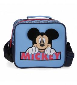 Neceser Mickey Moods adaptable con bandolera azul -23x20x9cm-