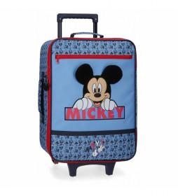 Maleta de cabina Mickey Moods azul -35x50x18cm-