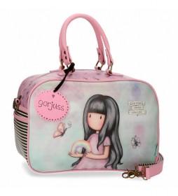 Bolso de viaje pequeño Gorjuss Somewhere rosa -37x25x15cm-