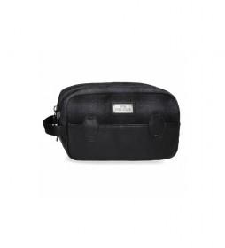 Neceser Pepe Jeans Scotch Adaptable negro -26x16x12cm-
