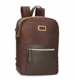 Mochila Porta Tablet El Potro Chic marrón -26x35x10cm-