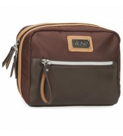 Neceser El Potro Chic Adaptable marrón -20,5x17x8cm-