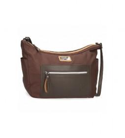Bolso de hombro El Potro Chic marrón -32x25x11cm-