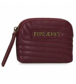 Monedero Pepe Jeans Amanda burdeos -12x8x2cm-