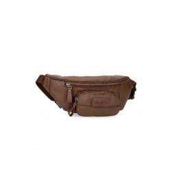 Riñonera Pepe Jeans Wilton marrón -35x13x5cm-