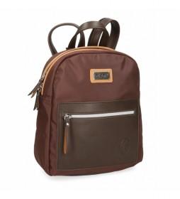 Mochila Casual 5142022 marrón -24x28x10cm-