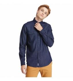 Camisa vaquera Mumford  azul denim