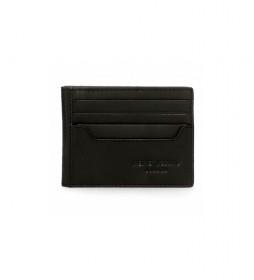 Tarjetero de piel Pepe Jeans Dark negro -9,5x7,5cm-