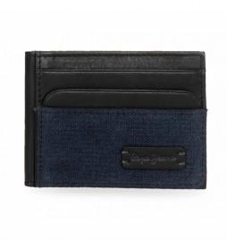 Tarjetero Pepe Jeans Royce azul -9,5x7,5cm-