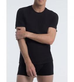 Camiseta interior negra cuello con tecnología termorreguladora X-Temp
