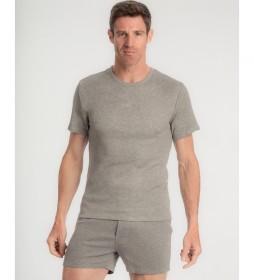 Camiseta interior gris cuello con tecnología termorreguladora X-Temp