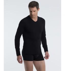 Camiseta interior negro con tecnología termorreguladora X-Temp