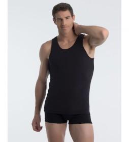 Camiseta interior negra con tecnología termorreguladora X-Temp