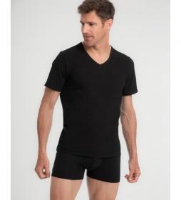 Camiseta interior de algodón peinado Suavidad Real en negro