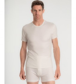 Camiseta interior térmica de algodón de Invierno blanca