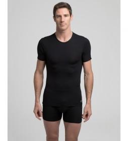 Camiseta interior  térmica negro con tecnología Termaltech