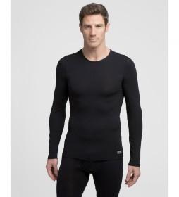 Camiseta interior  térmica negra con tecnología Termaltech