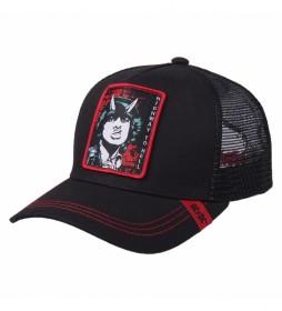 Gorra Premium ACDC negro, rojo