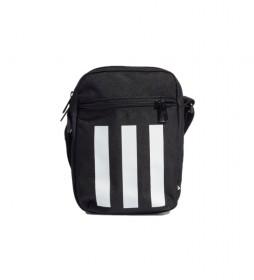 Bolso cruzado Essentials 3 bandas negro -22x16x6cm-
