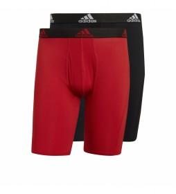 Boxers Bos Brief 2pp rojo, negro