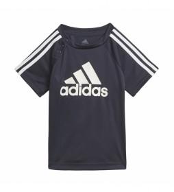 Camiseta adidas 3 bandas negro