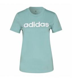 Camiseta Loungewear Essentials Slim Logo turquesa