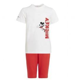 Conjunto Verano Disney Mickey Mouse blanco, rojo