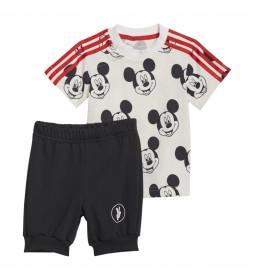 Conjunto Verano Disney Mickey Mouse blanco, negro