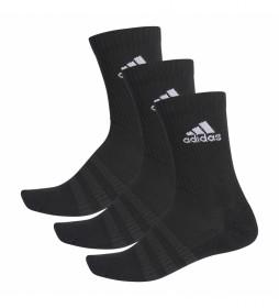 Pack de 3 calcetines CUSH CRW 3PP negro