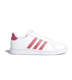 Zapatillas Grand Court blanco, rosa