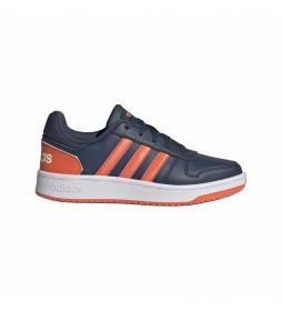 Zapatillas Hoops 2.0 K azul, naranja