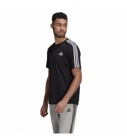 Camiseta Essentials 3 Rayas negro