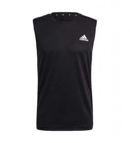 Camiseta sin Mangas Aeroready Designed to Move Sport 3 Bandas negro